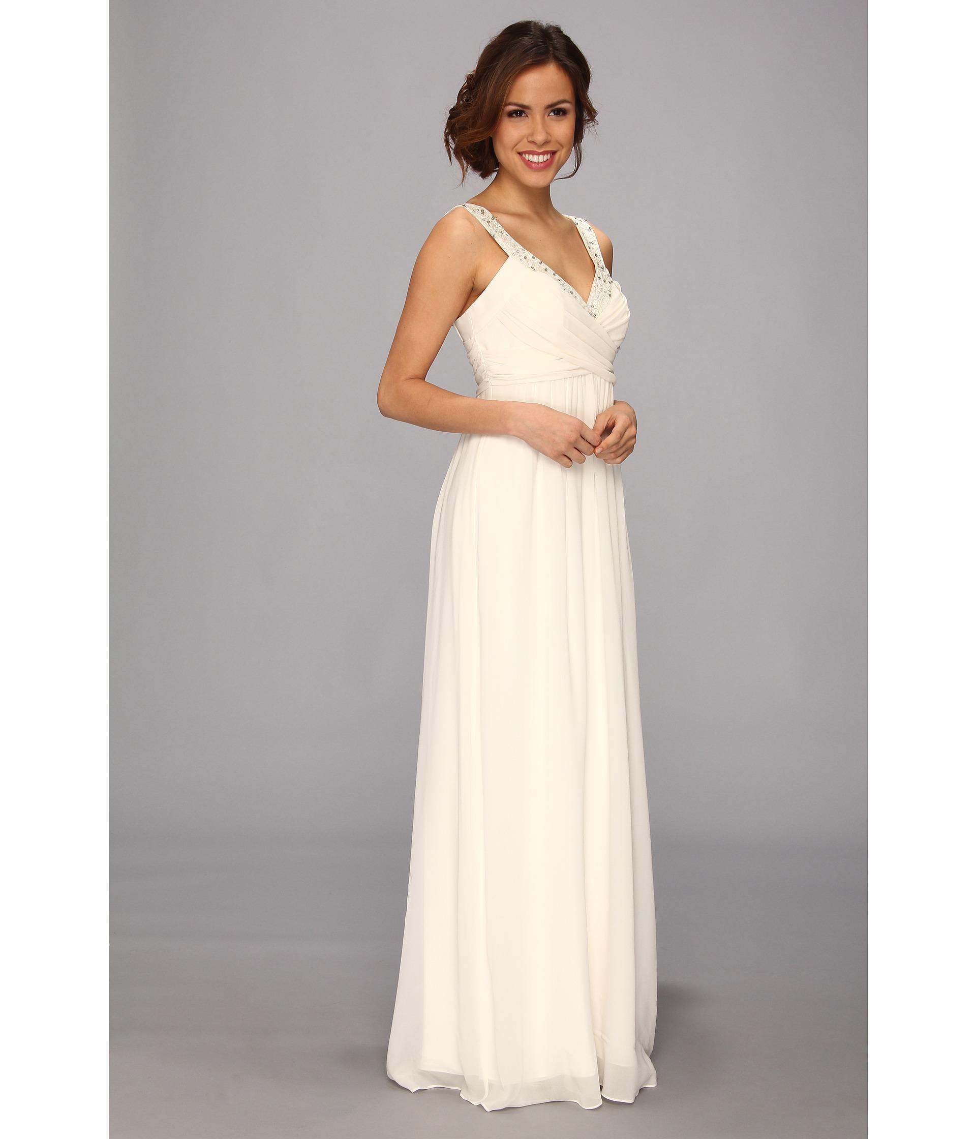 Nicole miller double face satin silk georgette bridal gown for Silk georgette wedding dress