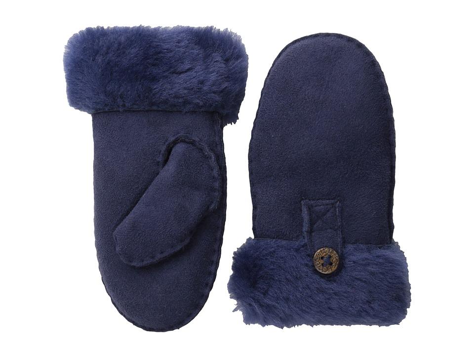 UGG Kids Bailey Mitten Peacoat Dress Gloves