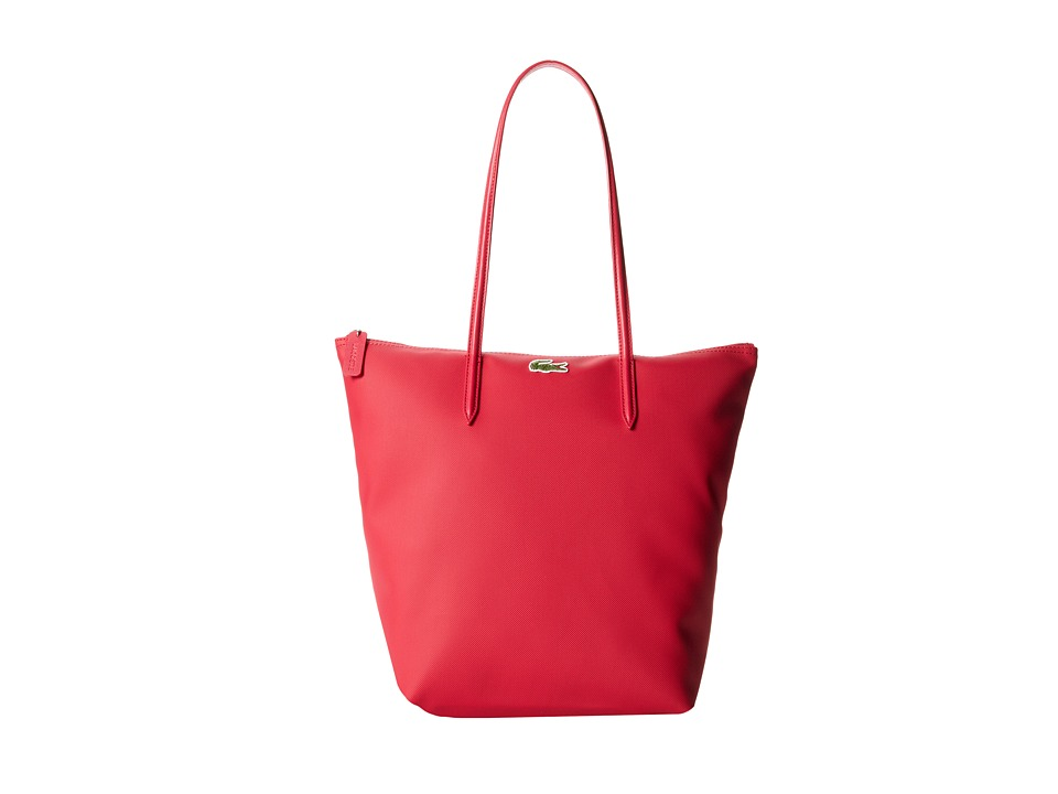 Lacoste - L.12.12 Concept M1 Vertical Tote Bag (Petunia Pink) Tote Handbags