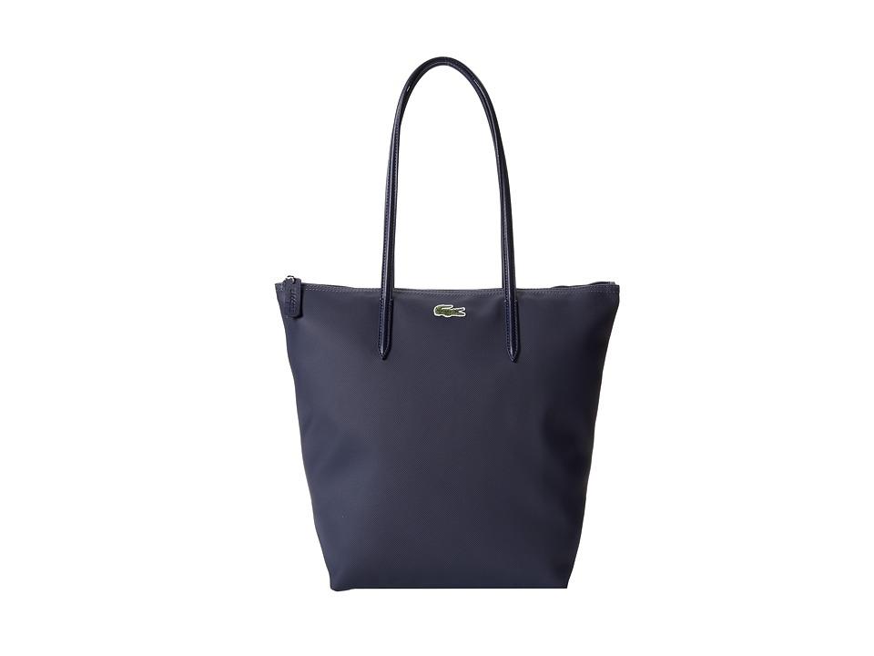 Lacoste - L.12.12 Concept M1 Vertical Tote Bag (Eclipse) Tote Handbags
