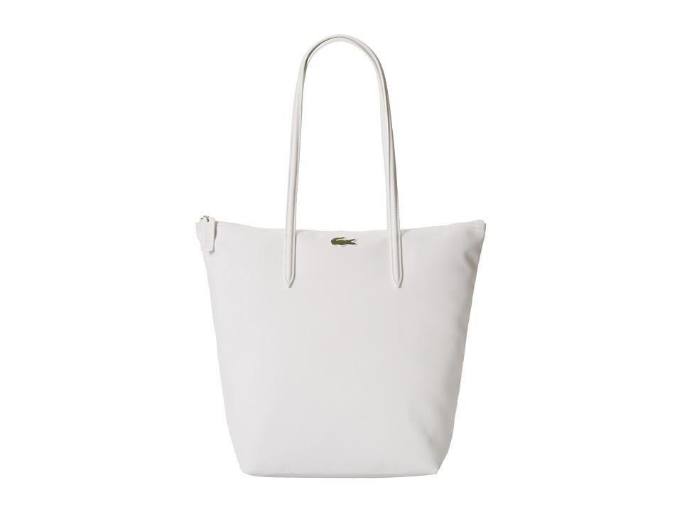 Lacoste - L.12.12 Concept M1 Vertical Tote Bag (White) Tote Handbags