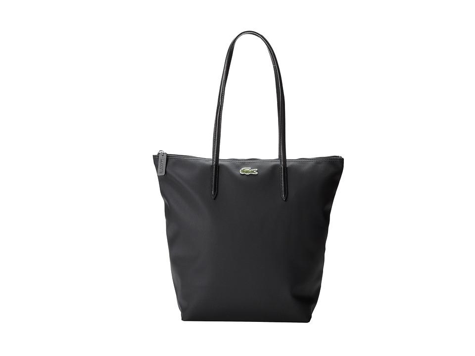 Lacoste - L.12.12 Concept M1 Vertical Tote Bag (Black) Tote Handbags