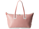 Lacoste - L.12.12 Concept Mosaic Large Horizontal Tote (Strawberry Pink/White) - Bags and Luggage at Zappos.com