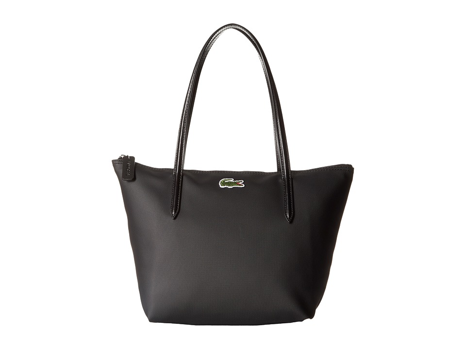 Lacoste - L.12.12 Concept Medium Small Shopping Bag (Black) Tote Handbags