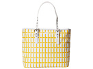 Lacoste - Nelly Medium Shopping Bag (Lemon Yellow/White) - Bags and Luggage at Zappos.com
