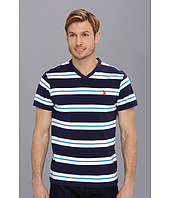 U.S. POLO ASSN. - Tricolor Stripe V-Neck T-Shirt
