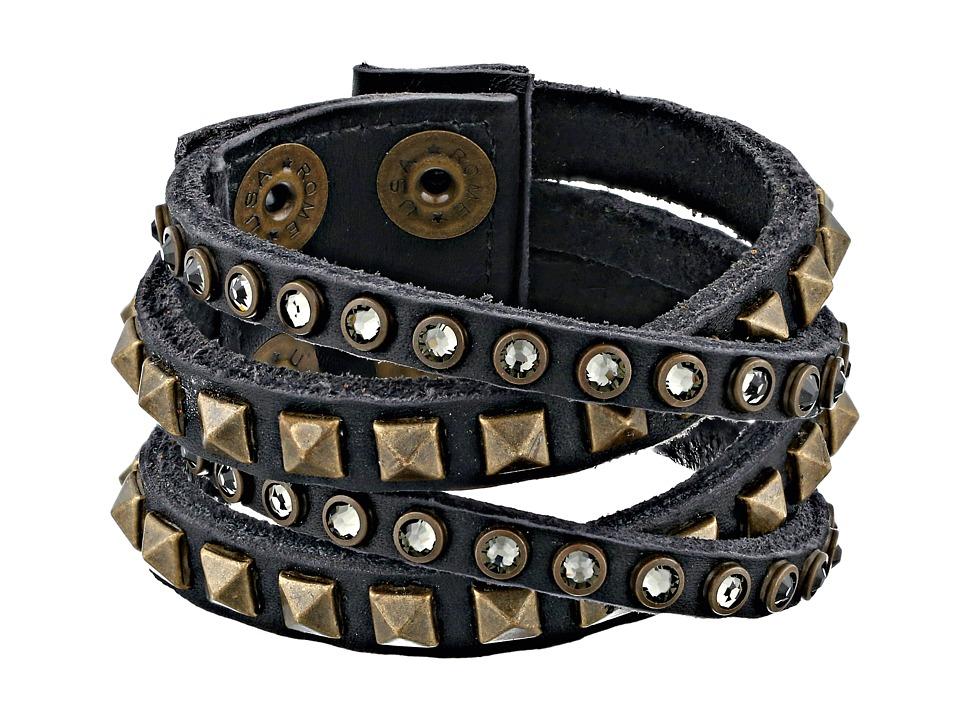 Leatherock - B340 (Vintage Black) Bracelet