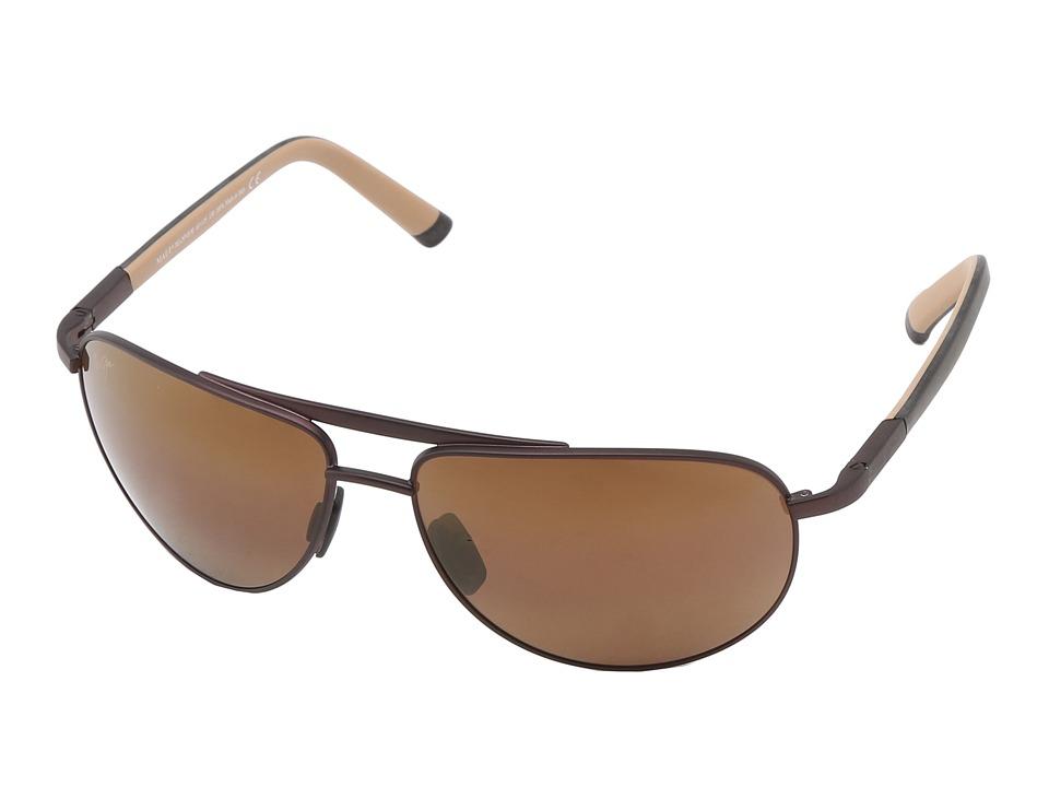 Maui Jim Leeward Coast Chocolate w/ Black and Tan Temples Sport Sunglasses