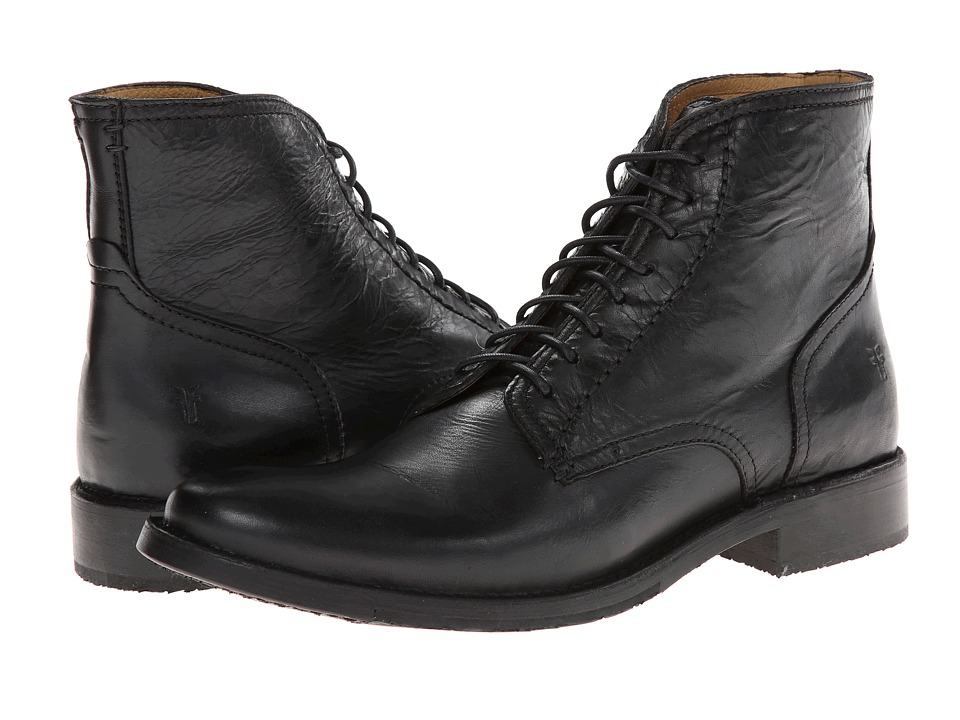 Frye - Oliver Lace Up (Black Antique) Men