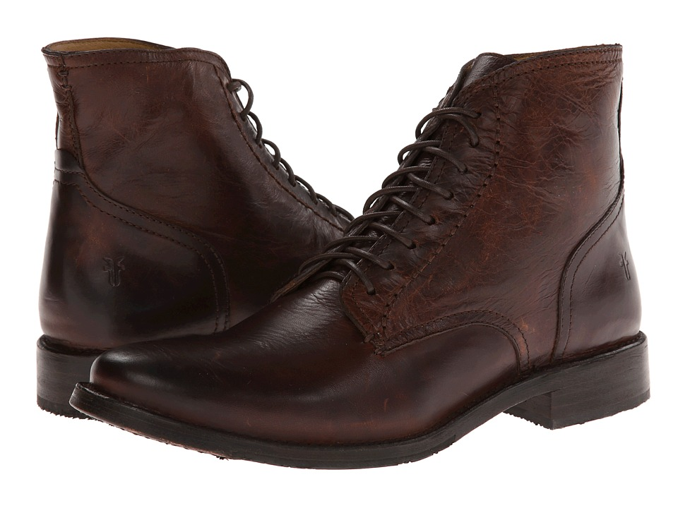 Frye - Oliver Lace Up (Dark Brown Antique) Men