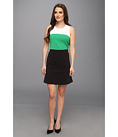MICHAEL Michael Kors - Petite Color Block Double Weave Crepe Seamed Dress