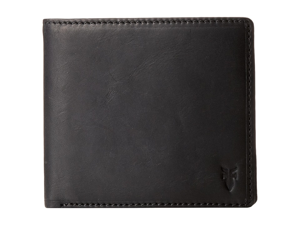 Frye - Logan Billfold (Black Antique) Wallet Handbags