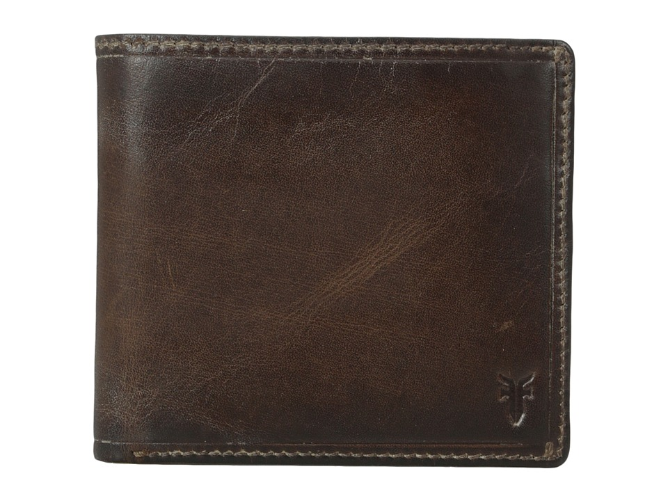 Frye - Logan Billfold (Dark Brown Antique) Wallet Handbags
