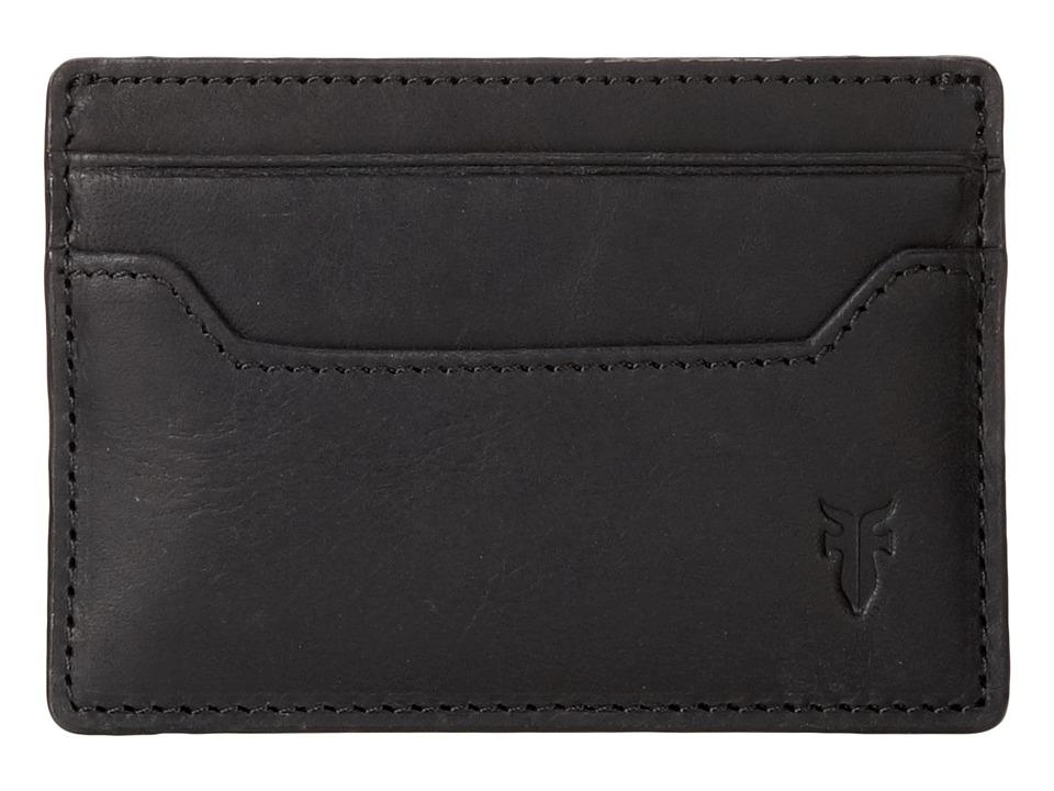 Frye - Logan Card (Black Antique) Credit card Wallet