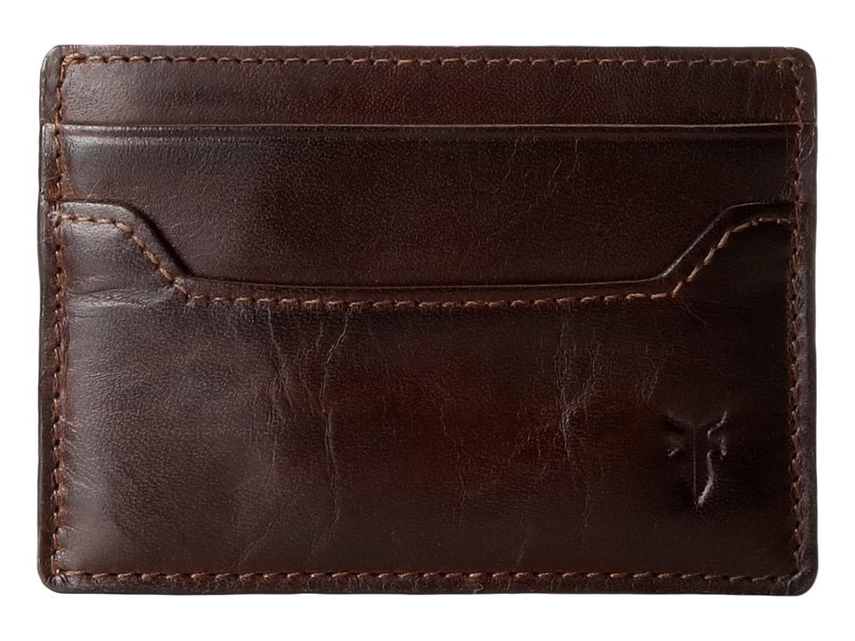 Frye - Logan Card (Dark Brown Antique) Credit card Wallet