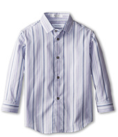 Calvin Klein Kids - L/S Roadmap Stripe Shirt (Little Kids)