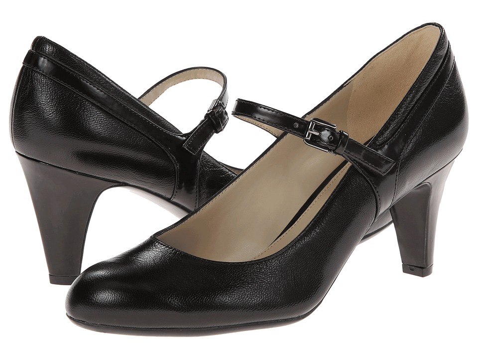 Naturalizer - Orianne Black LeatherShiny Womens Shoes $99.00 AT vintagedancer.com