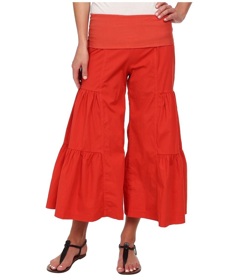 XCVI - Cropped Side Tier Palazzo Roma Womens Casual Pants $80.00 AT vintagedancer.com