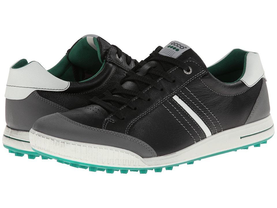 ECCO Golf - Street Hybrid (Black/Shadow White/Green) Men