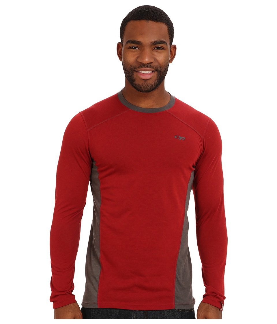 Outdoor Research Sequence L/S Crew (Redwood/Charcoal) Men