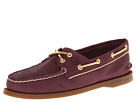 Sperry Top-Sider - A/O 2 Eye (Wine/Gold Metallic Piping)