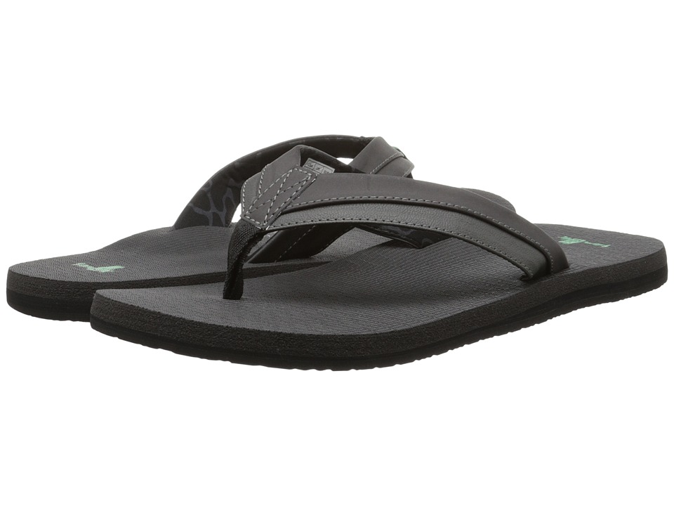 Sanuk - Beer Cozy Light (Black) Men's Sandals