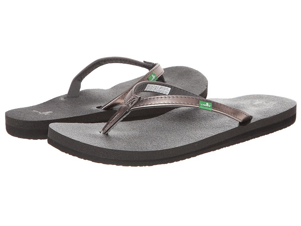 Sanuk Yoga Joy Metallic (Pewter) Sandals
