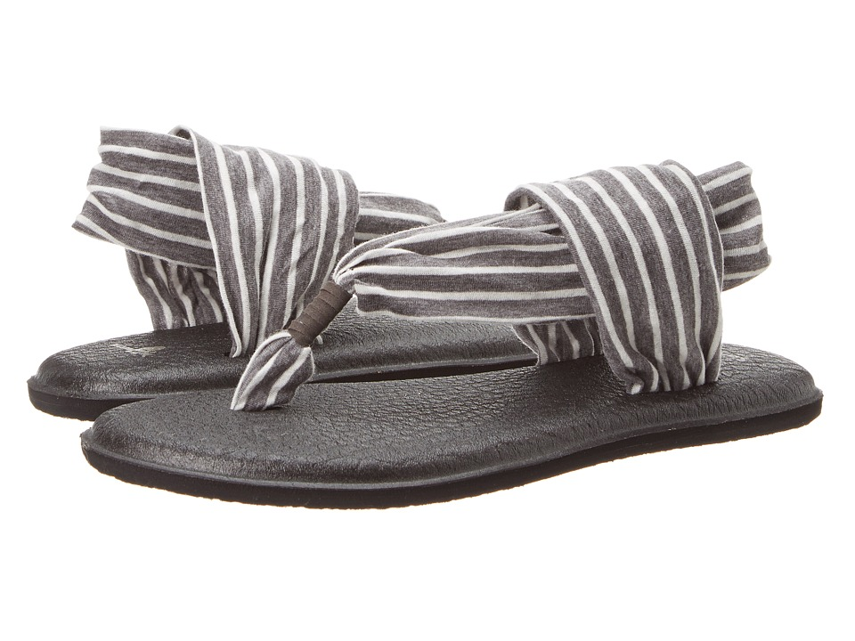 Sanuk Yoga Sling 2 Prints (Charcoal/Natural Stripes) Women