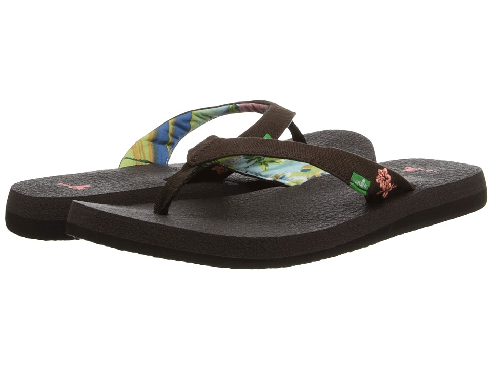 Sanuk - Yoga Paradise (Chocolate/Coral) Womens Sandals