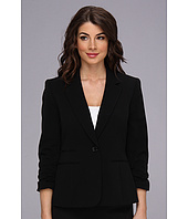 Nine West - Bi Stretch One Button Notch Collar Rouched Sleeve JacketJacket