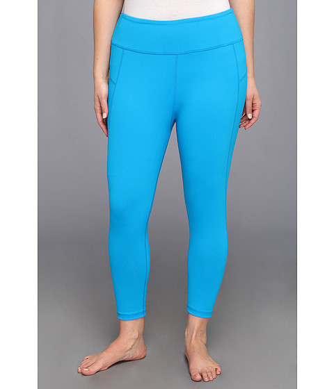 MSP by Miraclesuit - Plus Size Crop Pant Legging with Core Control (Blue Juice) - Apparel