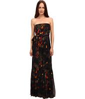 Jean Paul Gaultier - Floral Tulle Spaghetti Strap Maxi Dress