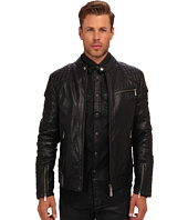 Just Cavalli - Quilted Shoulder Leather Jacket