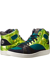 Just Cavalli - Zig-Zag Mesh Fabric Hi-Top Sneaker
