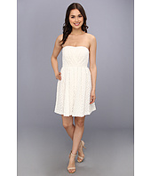 Donna Morgan - Strapless Lace With Pleated Skirt Dress