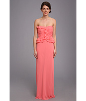 Donna Morgan - Sweetheart Long Gown With Peplum Top Dress