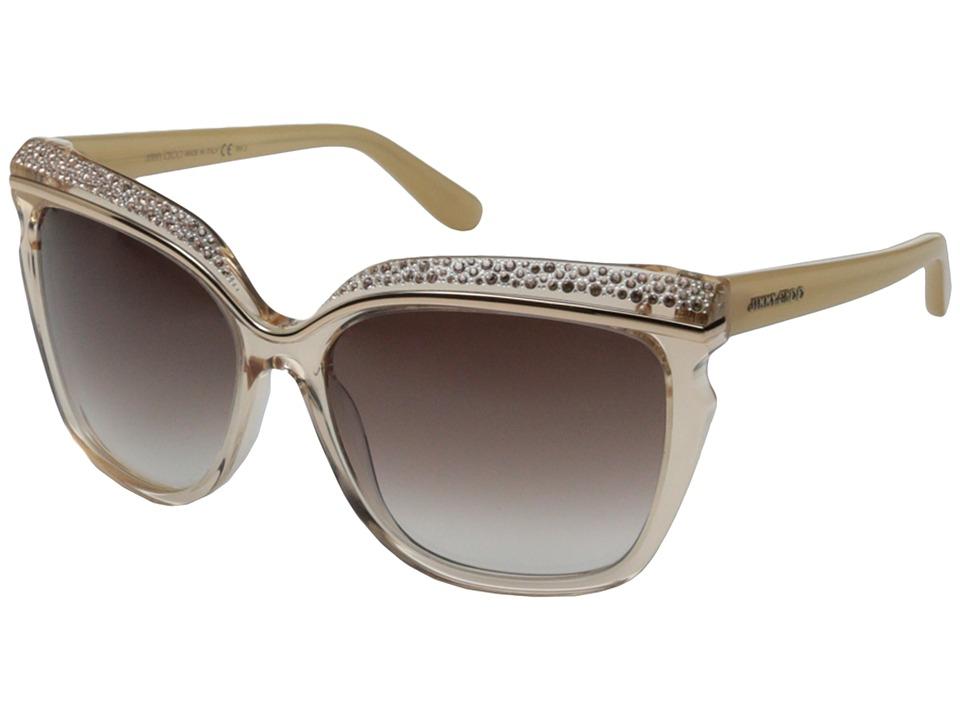 Jimmy Choo Sophia/S Nude/Brown Violet Shaded Fashion Sunglasses