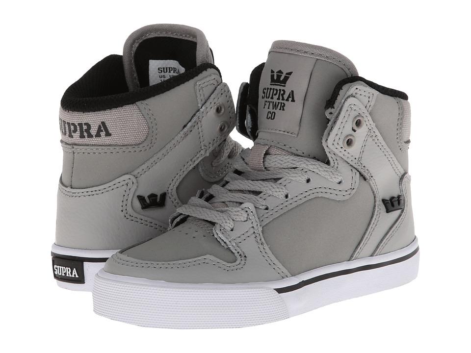 Supra Kids Vaider Little Kid/Big Kid Grey/Black/White Kids Shoes