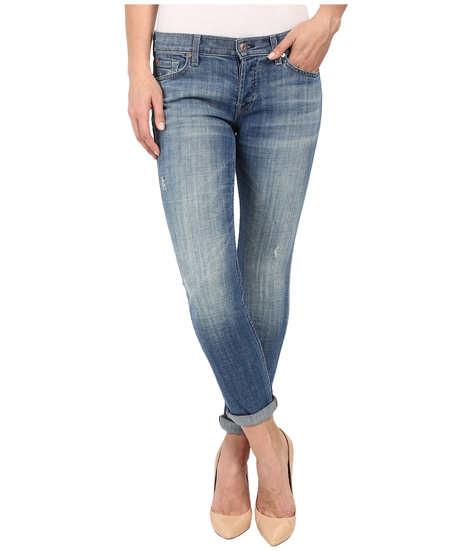 7 For All Mankind - Josefina w/ Rolled Hem in Bright Light Broken Twill (Bright Light Broken Twill) Womens Jeans