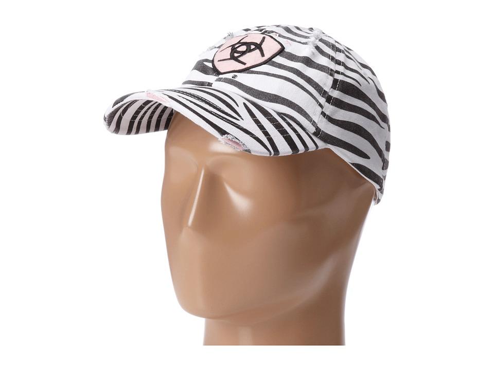 Ariat - Ariat Shield Baseball Cap (Zebra) Baseball Caps