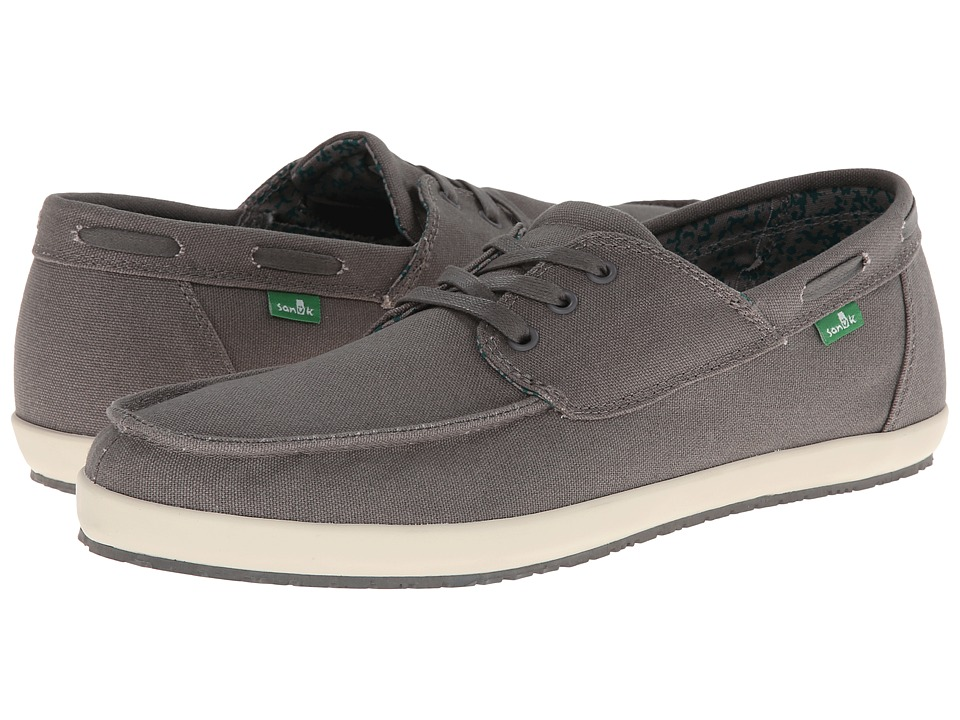 Sanuk Casa Barco Charcoal Mens Lace up casual Shoes