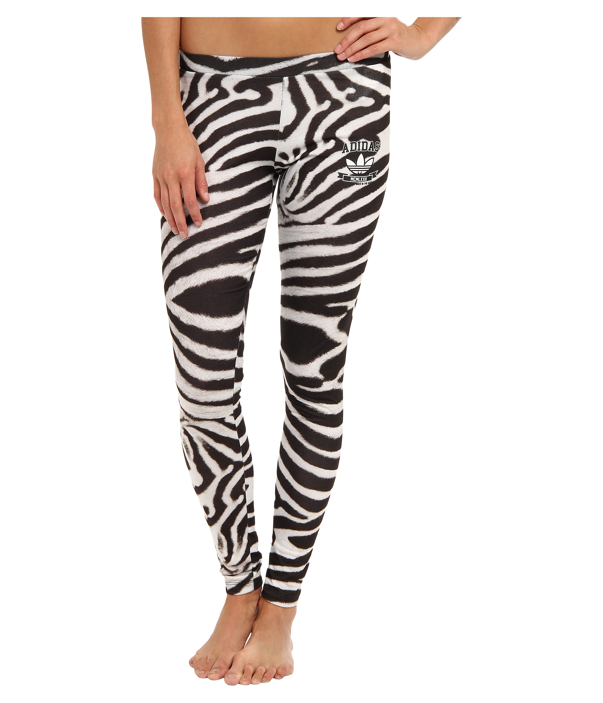 She'll be ready to take a walk on the wild side in these Zebra Leggings from Happy by Pink Chicken. With an allover zebra print, these leggings will add instant charm to any outfit she pairs them with.4/5(2).