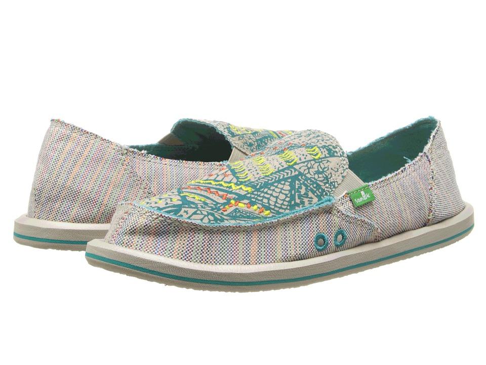 Sanuk Scribble (Teal Multi) Women's Skate Shoes