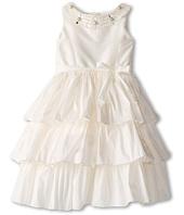 Us Angels - Silky Taff Tier Dress w/ Beaded Neck (Little Kids)