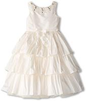 Us Angels - Silky Taff Tier Dress w/ Beaded Neck (Big Kids)