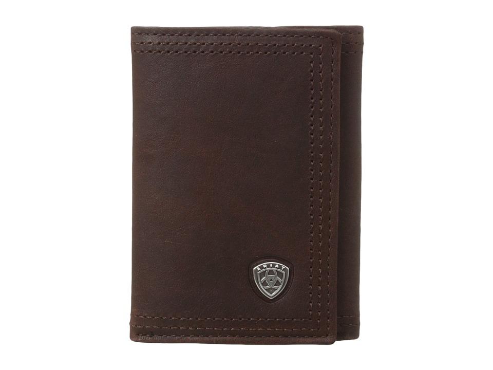 Ariat - Ariat Shield Tri-Fold Wallet (Dark Copper) Wallet Handbags