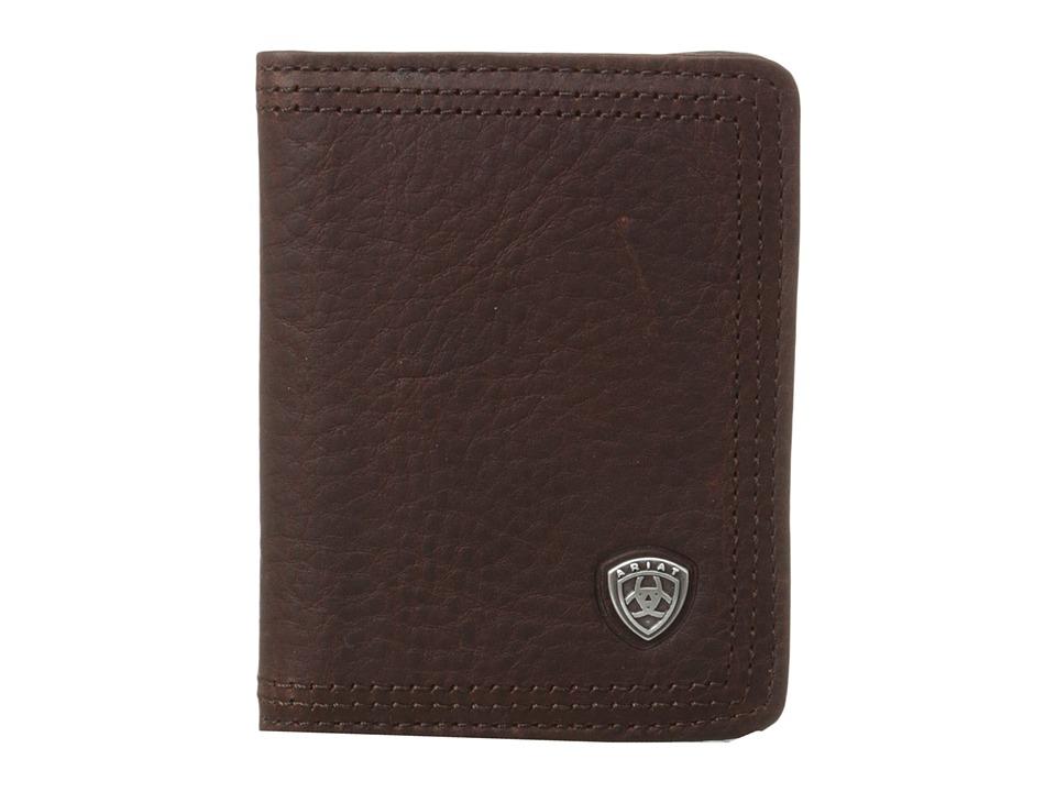 Ariat - Ariat Shield Bi-Fold Wallet (Dark Copper) Wallet Handbags