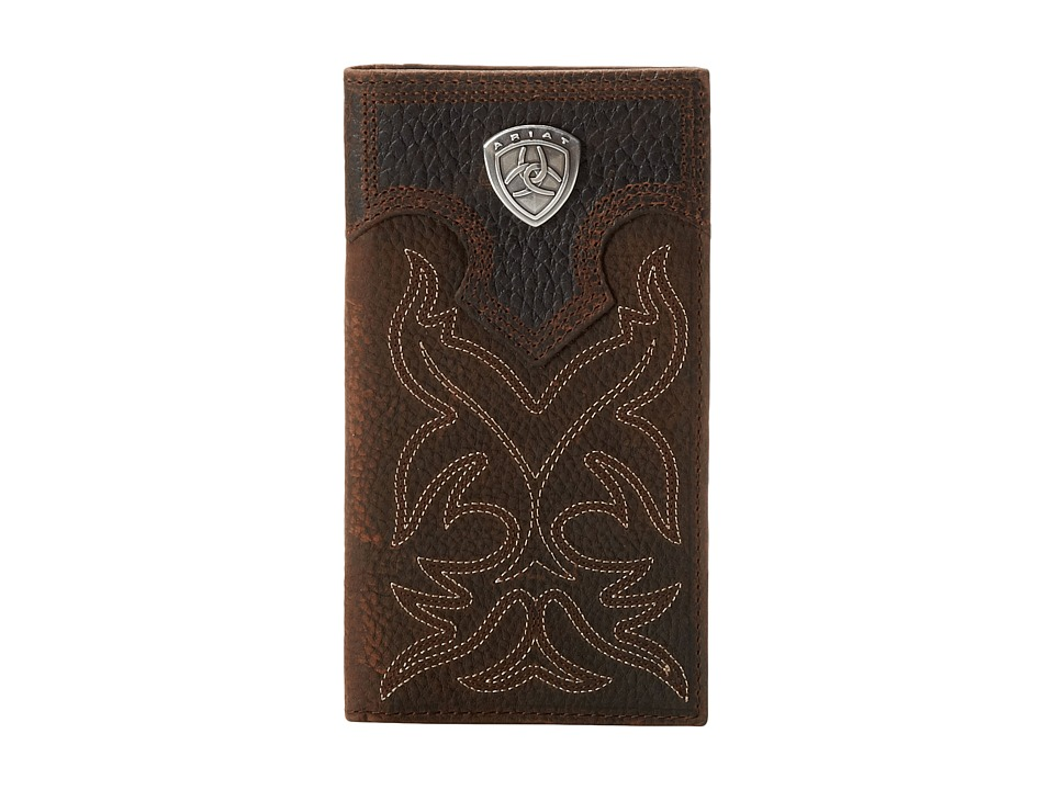 Ariat - Ariat Shield Boot Stitch Rodeo Wallet (Brown) Wallet Handbags