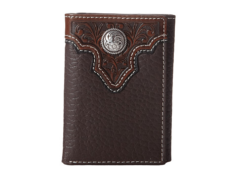Ariat Tooled Overlay Tri-Fold Wallet