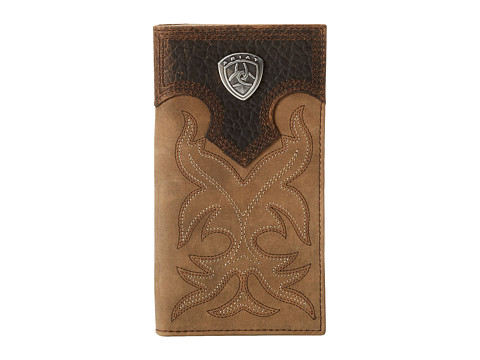 Ariat Ariat Shield Boot Stitch Rodeo Wallet - Medium Distressed Brown